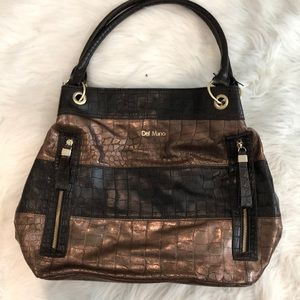 Gold and brown purse